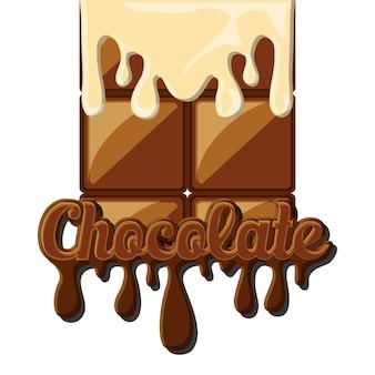 チョコレートバーが溶けたアイコン