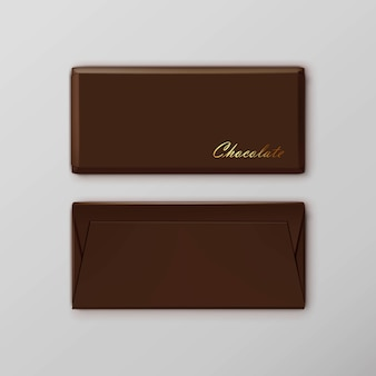 Chocolate bar package packaging brown pack set