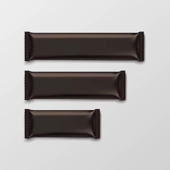 Chocolate bar package packaging brown pack set