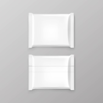 Chocolate bar package packaging white pack set