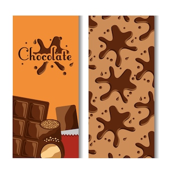 Chocolate bar and splash candies banners