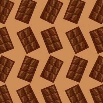 Chocolate bar square sweet pattern