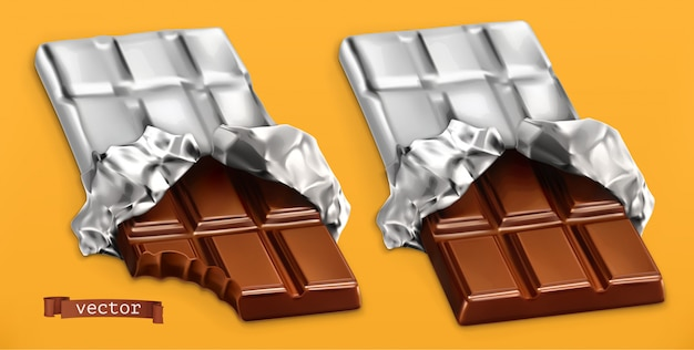 Шоколадные батончики, 3d реалистичные