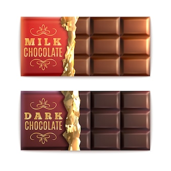 Chocolate bars set