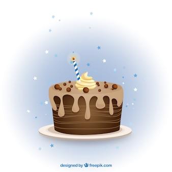 Шоколад рождения торт