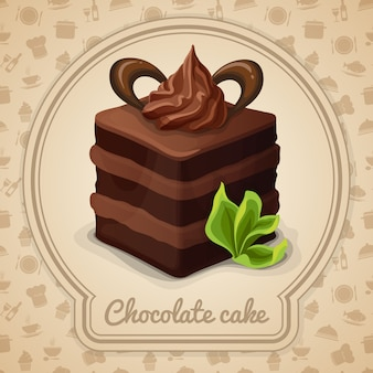 Chocolate cake illustration