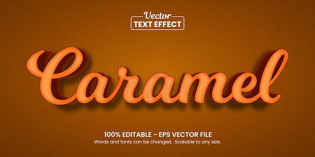 초콜릿 카라멜 배경, 편집 가능한 텍스트 효과