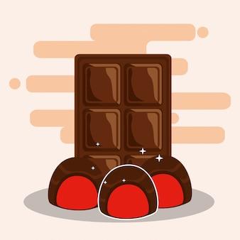 Chocolate cocoa card Premium Vector