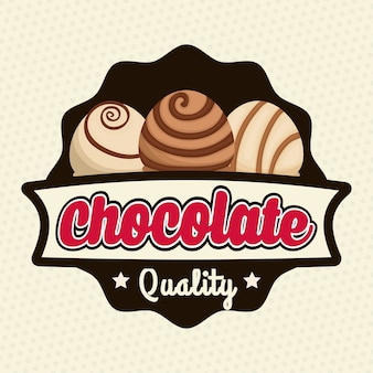 Chocolate concept with sweet icon design, vector illustration 10 eps graphic.