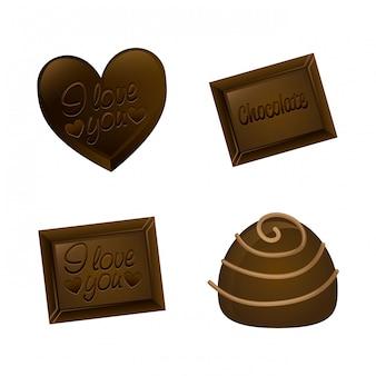 Chocolate design over  background vector illustration