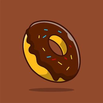 초콜릿 디저트 만화 아이콘 그림