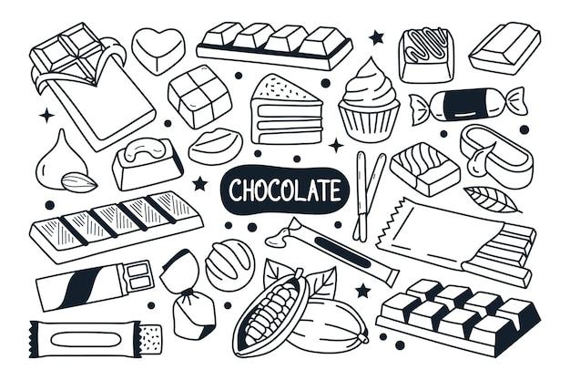 チョコレート落書きイラスト