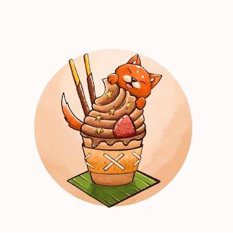 초콜릿 음료 예술 그림