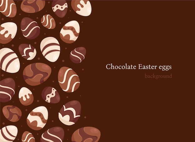 Chocolate easter eggs background. easter sweets