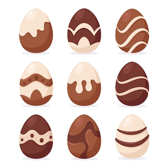 Chocolate easter eggs. easter sweets