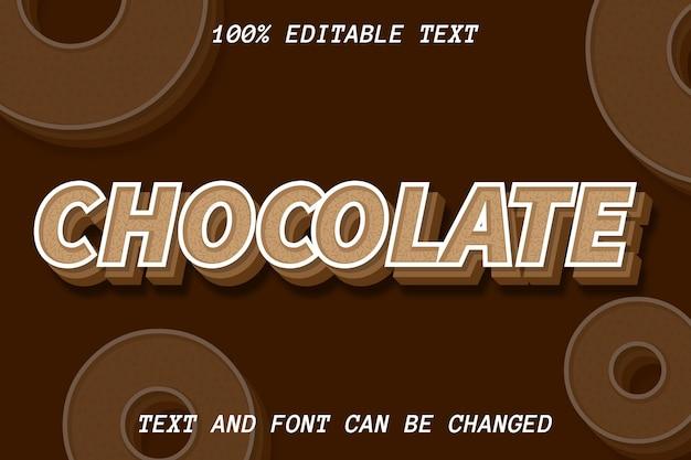 Chocolate editable text effect modern style