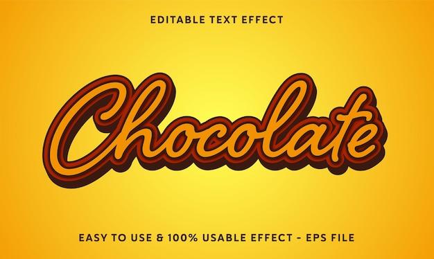 Шоколадный редактируемый текстовый эффект