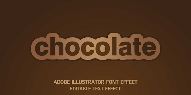 Chocolate editable text style effect font