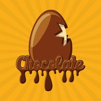 초콜릿 달걀 아이콘