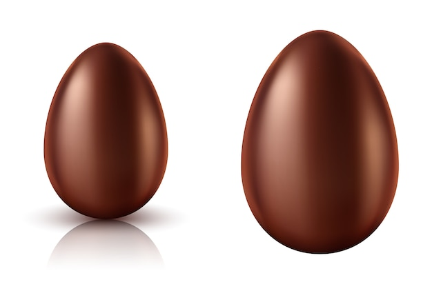 Chocolate egg whole realistic