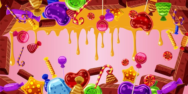 Chocolate factory horizontal background