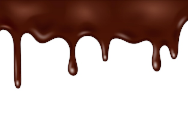 Chocolate flowing glaze background design