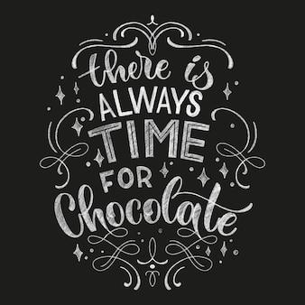 チョコレートの手レタリングチョークの引用。クリスマス冬の単語の構成。 tシャツ、バッグ、ポスター、カード、ステッカー、メニューのベクトルデザイン要素