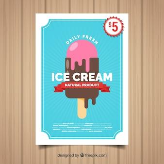 Chocolate ice cream poster template