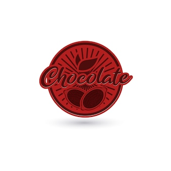 Chocolate label with fruit logo