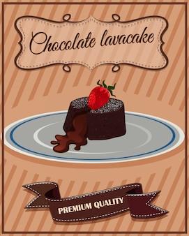 Chocolate lavacake on plate