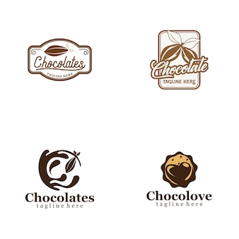 Chocolate logo collection
