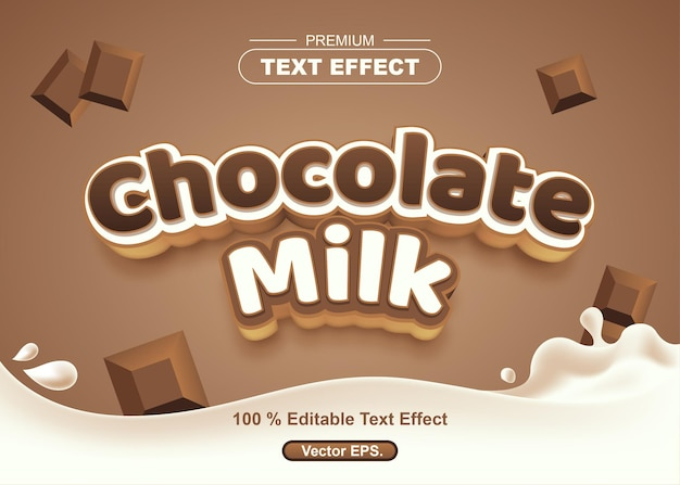 Chocolate milk editable text effect
