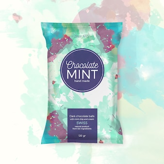 Chocolate mint colorful packing