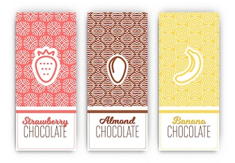 Chocolate package templates
