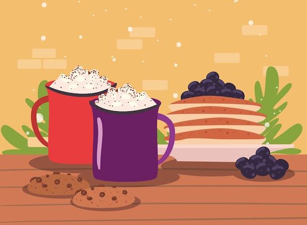 Chocolate and pancakes