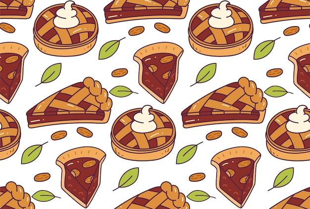 チョコレートパイのシームレスパターン