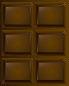 Chocolate seamless texture background vector illustration