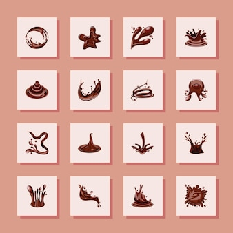 Набор шоколадных брызг