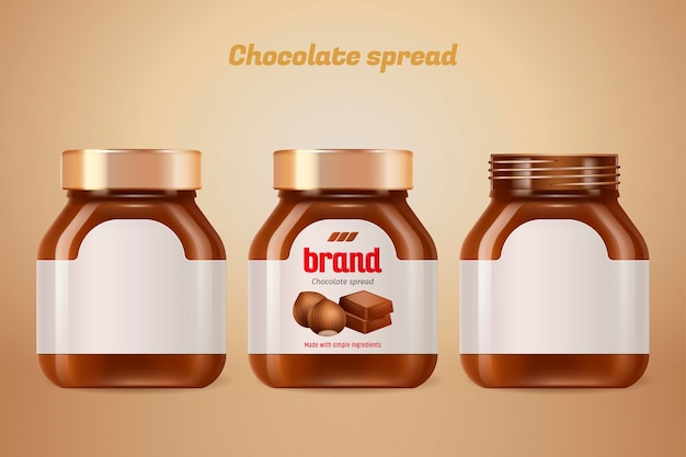 Chocolate spread bottle with blank label