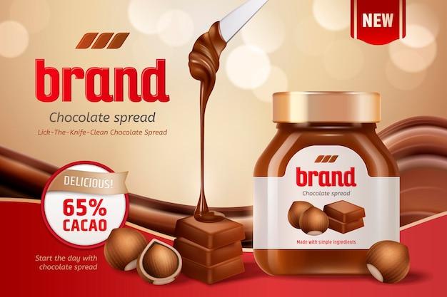 Chocolate spread   with hazelnut and smear paste