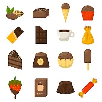 Иллюстрация символов шоколада.