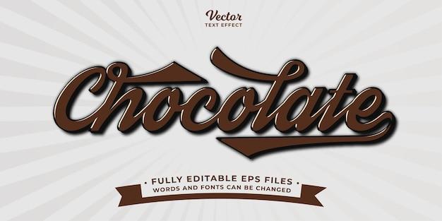 Шоколад текстовый эффект редактируемый eps cc