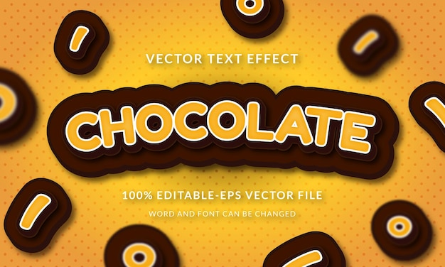 Chocolate text name 3d text style effect
