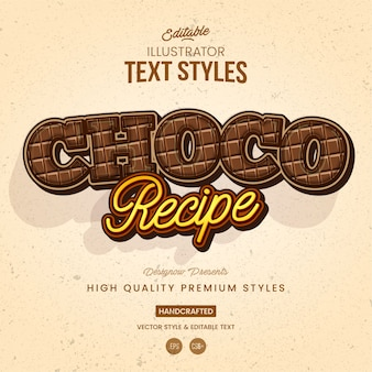 Chocolate text style