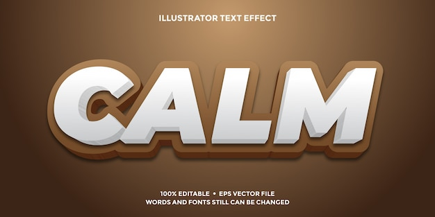 Chocolate and white text effect