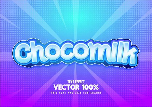 Текстовый эффект chocomilk бесплатные векторы