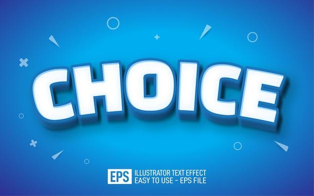 Choice 3d text editable style effect template