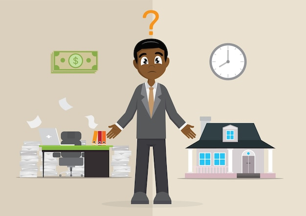 The choice of the  african businessman time or money.