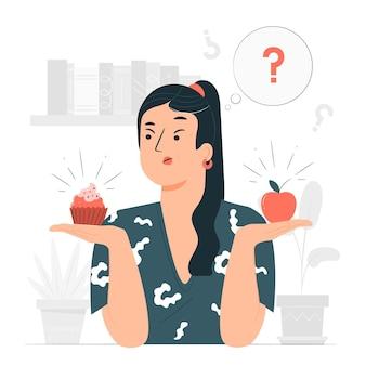 Choice concept illustration
