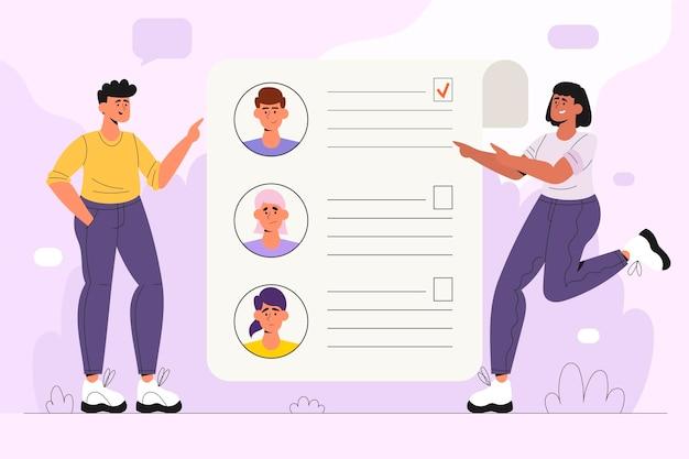 Выбор иллюстрации концепции работника